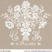 Bride's Bouquet, cross stitch pattern by Lili Soleil
