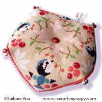 Tweet Biscornu cross stitch pattern by Barbara Ana Designs