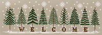 Fir Tree Welcome, cross stitch pattern by Lili Soleil