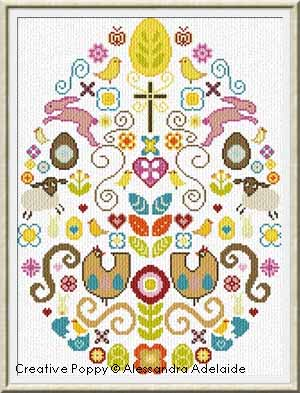 Happy Easter Cross Happy easter (cross stitch