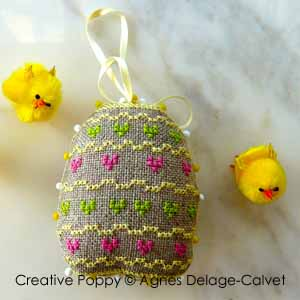 Barbara Ana - Egg Hunt - Easter ornament (cross stitch)