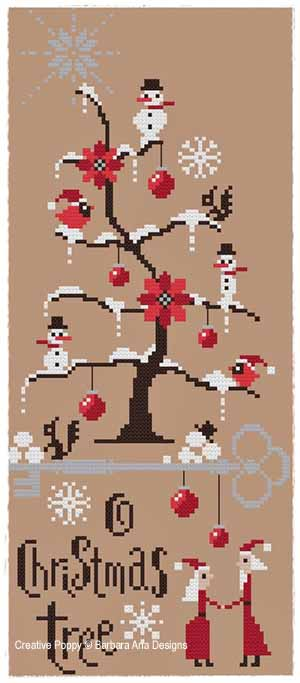 Barbara Ana Designs Christmas Tree Pattern Cr The Silver