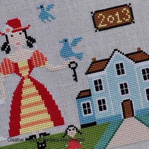 Barbara Ana I Like This Place Cross Stitch Pattern Chart
