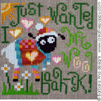 My Wool cross stitch pattern by Barbara Ana