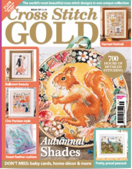As featured in Cross Stitch Gold magazine issue 131 on sale September 2016