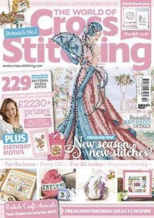 As featured in World of Cross stitch magazine issue 250 on sale Dec 2016 / Jan 2017