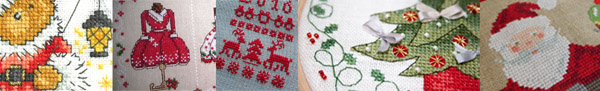 new patterns and ornaments to cross stitch for your Christmas projects