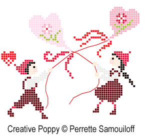 Valentine's Day cross stitch patterns