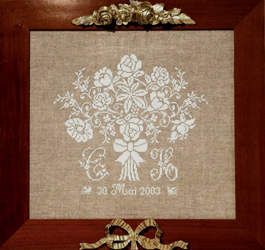 Wedding sampler with monograms designed by Lili Soleil