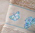 Luminous butterflies on terry towels