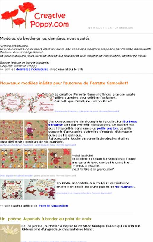 Creative Poppy Patterns Newsletter