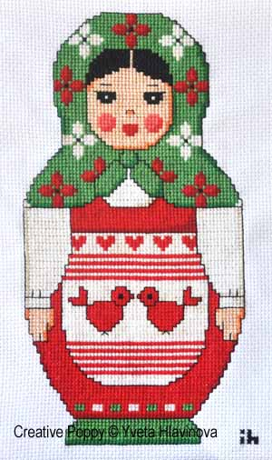 Matryoshka, cross stitch pattern by Iveta Hlavinova