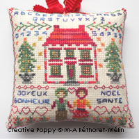 Wishes for the Winter Season, cross stitch pattern by Marie-Anne Rethoret-Melin