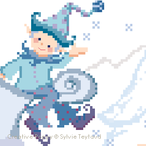 Winter fairy tale, cross stitch pattern by Sylvie Teytaud-Louche