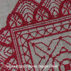 Lace Doily variations cross stitch pattern by Agn�s Delage-Calvet