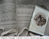 White lace sampler, cross stitch pattern by Agn�s Delage-Calvet
