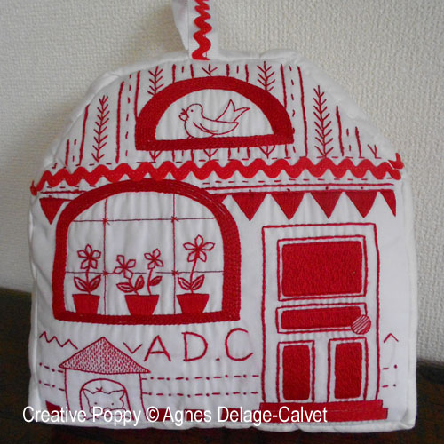Welcome House embroidery pattern by Agn�s Delage-Calvet
