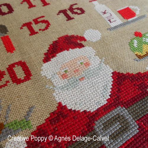 Santa's Baking Advent Calendar cross stitch pattern by Agn�s Delage Calvet