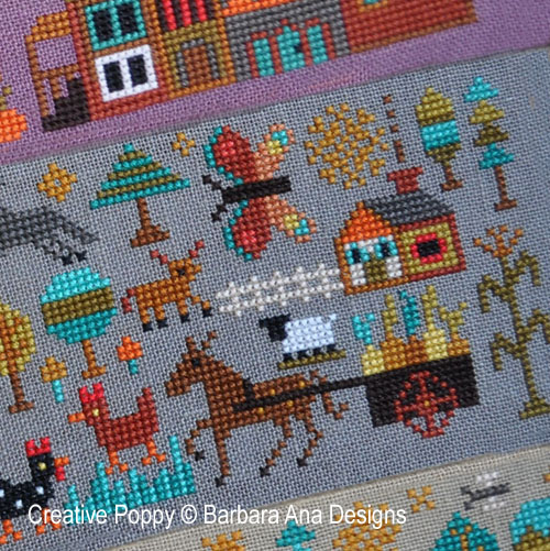 A New World - Part 2:  Plentiful Meadows cross stitch pattern by Barbara Ana Designs