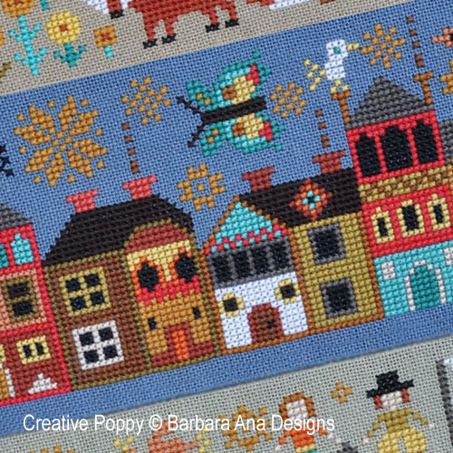 A New World - Part 4 - A visit to town cross stitch pattern by Barbara Ana Designs