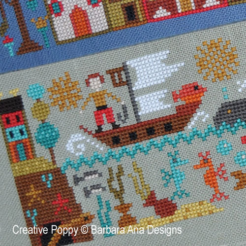Barbara Ana DesignsA New World - Part 5: Over the Seas cross stitch pattern by Barbara Ana Designs