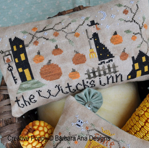 The whitch's inn (Bed and Breakfast) cross stitch pattern by Barbara Ana designs