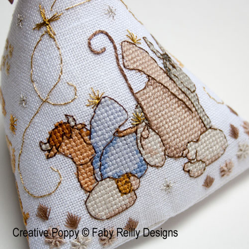 Christmas nativity Humbug cross stitch pattern by Faby Reilly Designs