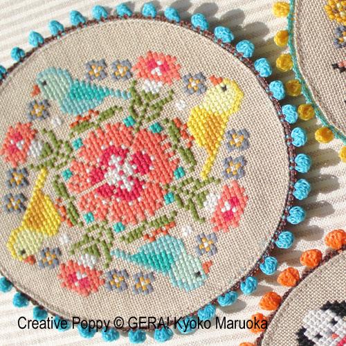 3 Doililes cross stitch pattern by GERA! by Kyoko Maruoka