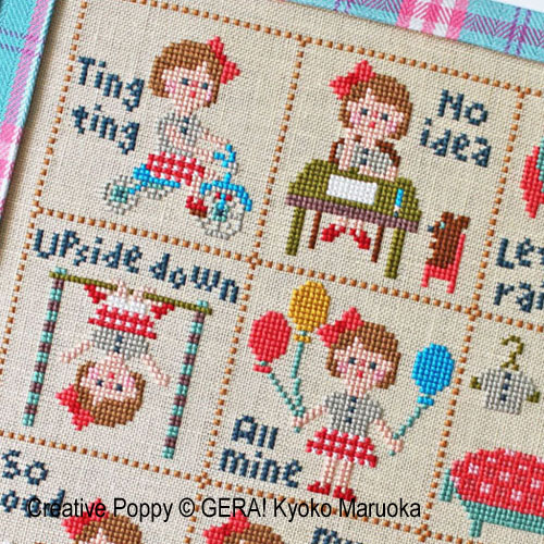 Little Klara cross stitch pattern by GERA! Kyoko Maruoka
