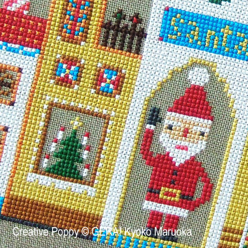 Santa's House cross stitch pattern by GERA! by Kyoko Maruoka