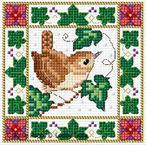 Lesley Teare Designs - Christmas Birds (cards) zoom 2 (cross stitch ...