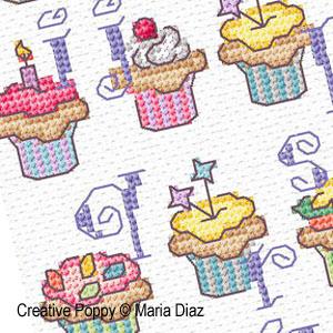 Cupcake alphabet