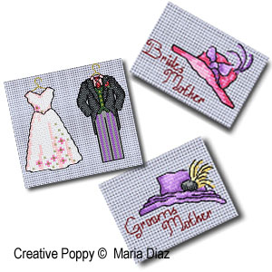 Bride and Groom's mothers' hats - Wedding mini motifs