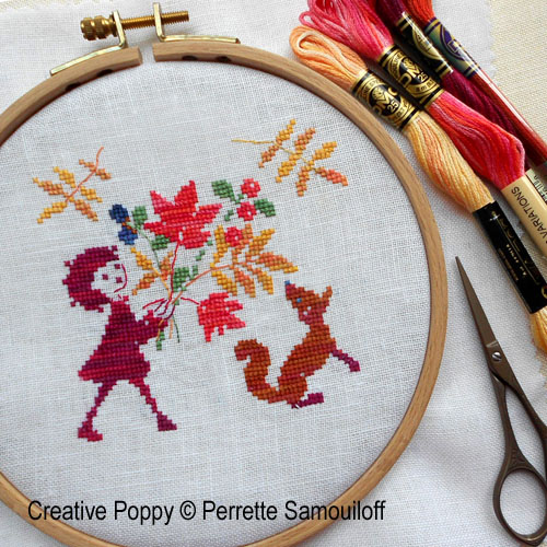 Autumn miniatures cross stitch pattern by Perrette Samouiloff