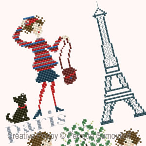 Paris Rive Gauche cross stitch pattern by Perrette Samouiloff