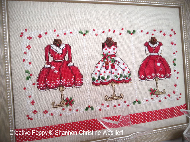 Mrs Clause's Merry Outfits cross stitch pattern by Shannon Christine