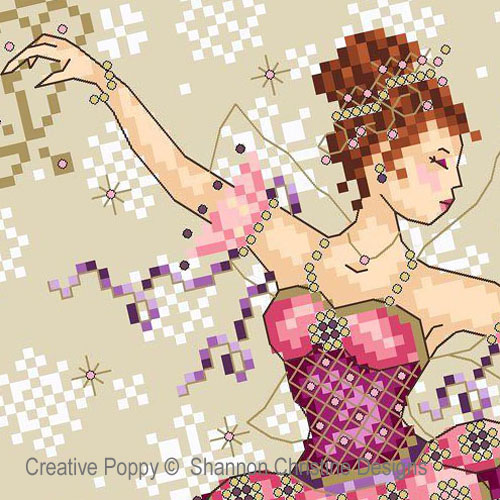 Sugarplum Fairy cross stitch pattern by Shannon Christine Designs