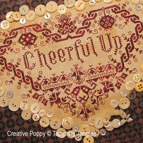 Cheerful up Valentine cross stitch pattern by Tempting Tangles