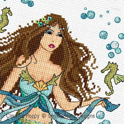 Mermaid and Water Nymphs cross stitch pattern by Lesley Teare Designs, zoom 1