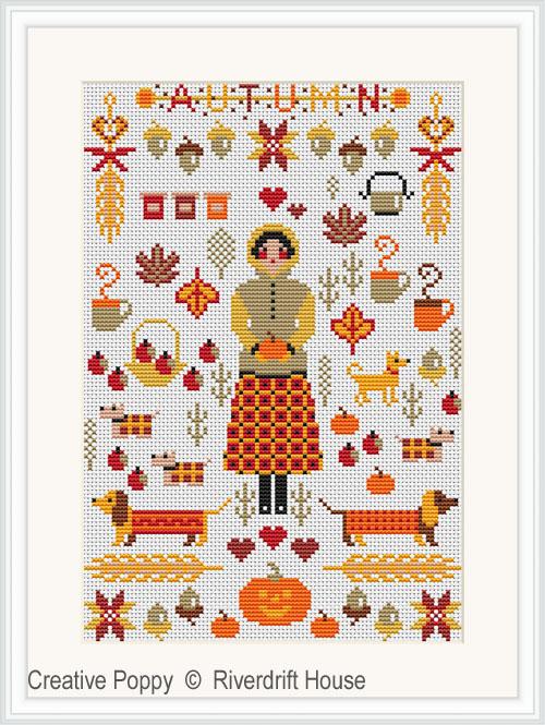 Mini Autumn Sampler cross stitch pattern by Riverdrift House