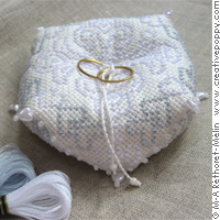 Wedding biscornu (ring cushion)