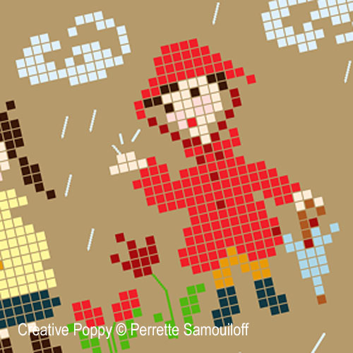 Here comes the rain! - cross stitch pattern - by Perrette Samouiloff (zoom 1)