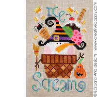 Ice Scream - cross stitch pattern - by Barbara Ana Designs