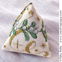 Misletoe Humbug (Xmas ornament) - cross stitch pattern - by Faby Reilly Designs