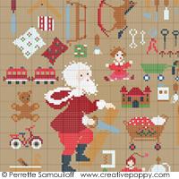 Santa's Workshop - cross stitch pattern - by Perrette Samouiloff (zoom 1)