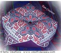 Biggie Biscornu cushion (the giant one!) - cross stitch pattern - by Tam's Creations
