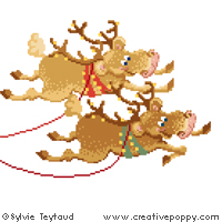 I'm on my way - cross stitch pattern - by Sylvie Teytaud (zoom 1)