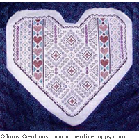 <b>Valentine Shimmer</b><br>cross stitch pattern<br>by <b>Tam's Creations</b>