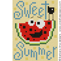 Sweet summer - cross stitch pattern - by Barbara Ana Designs
