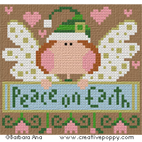 Peace on Earth - cross stitch pattern - by Barbara Ana Designs